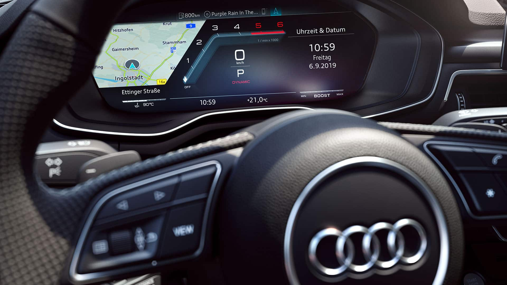 Audi virtual cockpit in the Audi S5 Coupé TDI